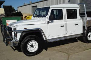 Land Rover Defnder Bullbar with side step Perth